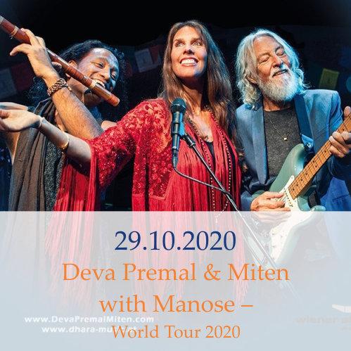 Vorankündigung Startseite: 29.10.20: Deva Premal & Miten with Manose - World Tour 2020